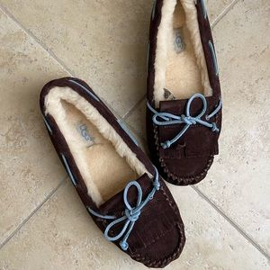 UGG Moccasin Slippers with Flurry Inside